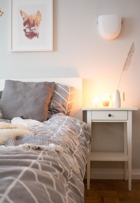 Schlafzimmer einrichten #Tipps #Deko #Textilien #Grau