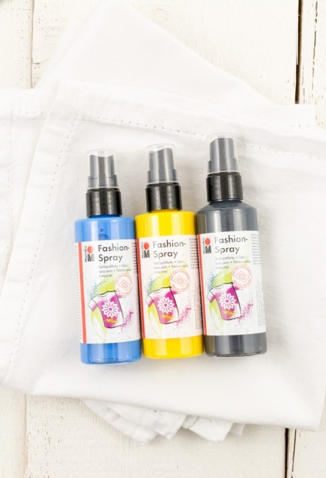 DIY Servietten färben mit Textilspray in Pastell