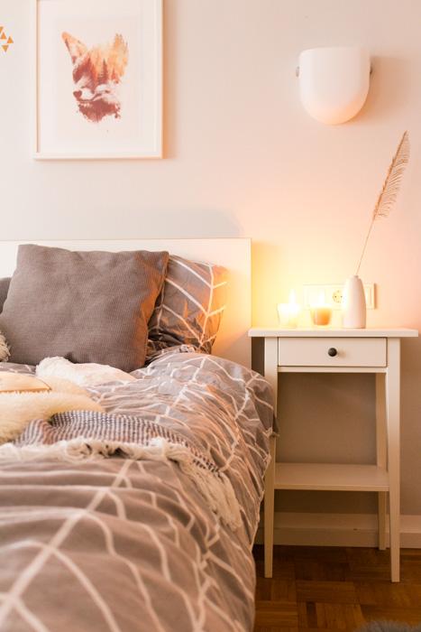 Schlafzimmer im Winter gemütlich gestalten. Deko-Ideen und Tipps.