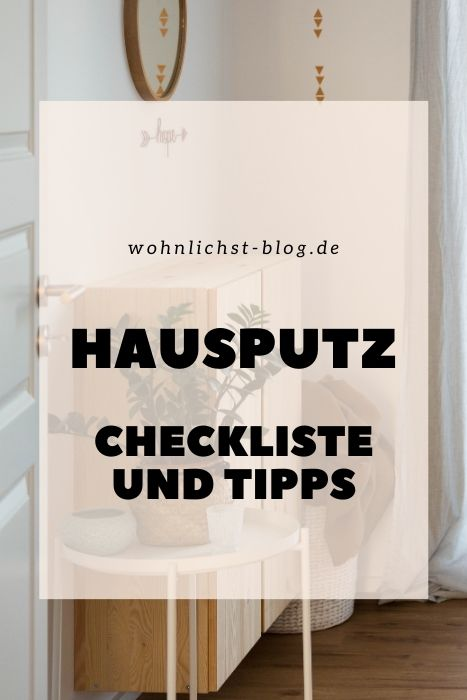 Hausputz. Checkliste und Tipps #aufräumen #putzen #großputz #checkliste #todo #liste #aufgaben