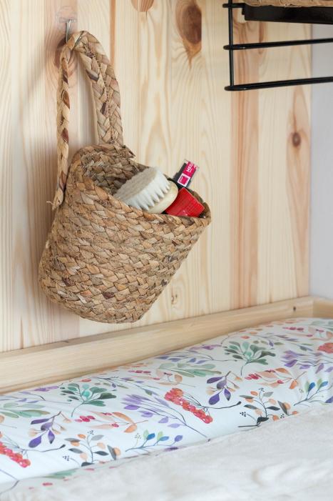 Stauraum Kinderzimmer Babyzimmer Deko einrichten Ideen Korb